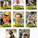 1985 Topps Traded Pittsburgh Pirates Team Set-8 Cards