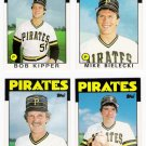 1986 Topps Traded Pittsburgh Pirates Team Set-4 Cards (No Bonds)