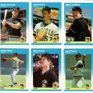 1987 Fleer Update Pittsburgh Pirates Team-6 Cards