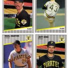1989 Fleer Update Pittsburgh Pirates Team-4 Cards