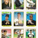 1989 Topps Pittsburgh Pirates Team Set-32 Cards