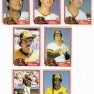 1981 Topps Traded San Diego Padres Team Set-7 Cards