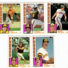 1984 Topps Traded San Diego Padres Team Set-5 Cards