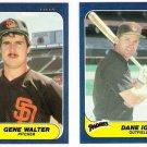 1986 Fleer Update San Diego Padres Team Set-5 Cards