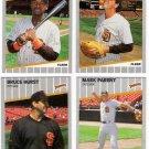 1989 Fleer Update San Diego Padres Team-4 Cards