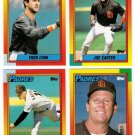 1990 Topps Traded San Diego Padres Team Set-4 Cards