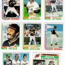 1982 Topps San Francisco Giants Set-27 Cards