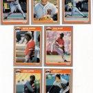 1985 Fleer Update San Francisco Giants Set-7 Cards