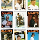 1986 Topps San Francisco Giants Set-27 Cards