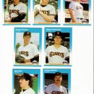 1987 Fleer Update San Francisco Giants-7 Cards