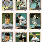 1989 Topps San Francisco Giants Set-30 Cards