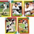 1990 Topps Traded San Francisco Giants Set-5 Cards