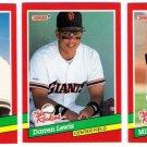 1991 Donruss The Rookies San Francisco Giants-3 Cards