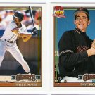 1991 Topps Traded San Francisco Giants Set-4 Cards