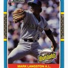 1985-87 Donruss Highlights Seattle Mariners-1 Card