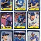1986 Fleer Seattle Mariners Team Set-24 Cards