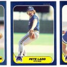 1986 Fleer Update Seattle Mariners Team Set-3 Cards