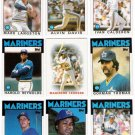 1986 Topps Seattle Mariners Team Set-30 Cards