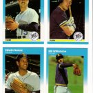 1987 Fleer Update Seattle Mariners Team-4 Cards