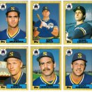 1987 Topps Traded Seattle Mariners Team Set-6 Cards