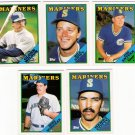 1988 Topps Traded Seattle Mariners Team Set-5 Cards