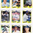 1990 Fleer Regular & Update Seattle Mariners-27 Cds