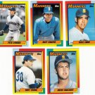 1990 Topps Traded Seattle Mariners Team Set-5 Cards