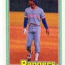 1981 Donruss Texas Rangers Team Set-18 Cards