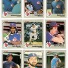 1983 Fleer Texas Rangers Team Set-23 Cards