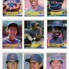 1984 Donruss Texas Rangers Team Set-24 Cards