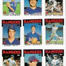 1986 Topps Traded Texas Rangers Team Set-9 Cards