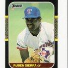 1987 Donruss Texas Rangers Team Set-28 Cards