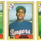 1987 Topps Traded Texas Rangers Team Set-3 Cards