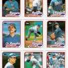 1989 Topps Texas Rangers Team Set-29 Cards