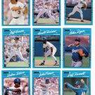 1990 Donruss Best of A.L. Texas Rangers-10 Cards