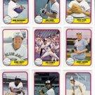 1981 Fleer Toronto Blue Jays Team Set-23 Cards