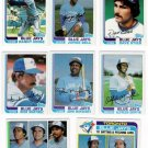 1982 Topps Toronto Blue Jays Team Set-26 Cards