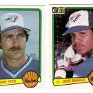 1983 Donruss Toronto Blue Jays Team Set-22 Cards