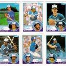 1983 Topps Traded Toronto Blue Jays Team Set-6 Cards