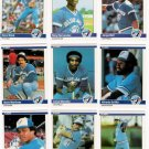 1984 Fleer Toronto Blue Jays Team Set-26 Cards