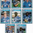 1985 Fleer Update Toronto Blue Jays Team Set- Cards