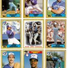 1987 Topps Toronto Blue Jays Team Set-29 Cards