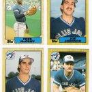 1987 Topps Traded Toronto Blue Jays Team Set-4 Cards