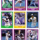 1988 Score Toronto Blue Jays Team Set-25 Cards