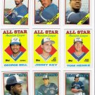 1988 Topps Toronto Blue Jays Team Set-32 Cards