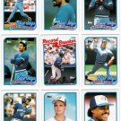 1989 Topps Toronto Blue Jays Team Set-29 Cards