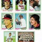 1978 Topps California Angels Team Set-28 Cards (2) Nolan Ryan, Bobby Bonds