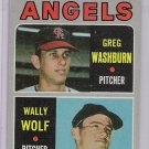 1970 Topps Wally Wolf/Greg Washburn Rookie, Card #74