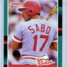 1988 Donruss The Rookies Chris Sabo-1, Card #30