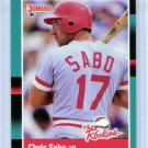 1988 Donruss The Rookies Chris Sabo-3, Card #30